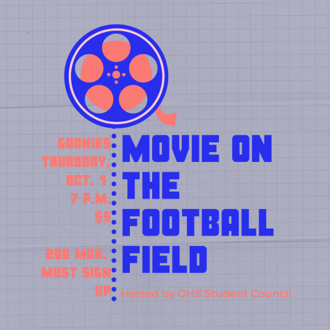 OHS Student Council introduced a new event- a movie on the football field