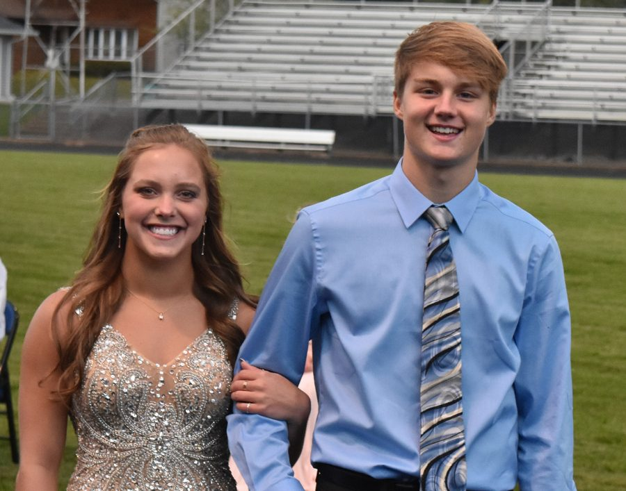 Lindsay Bangs and Zach Kubicek pose for  a picture during coronation