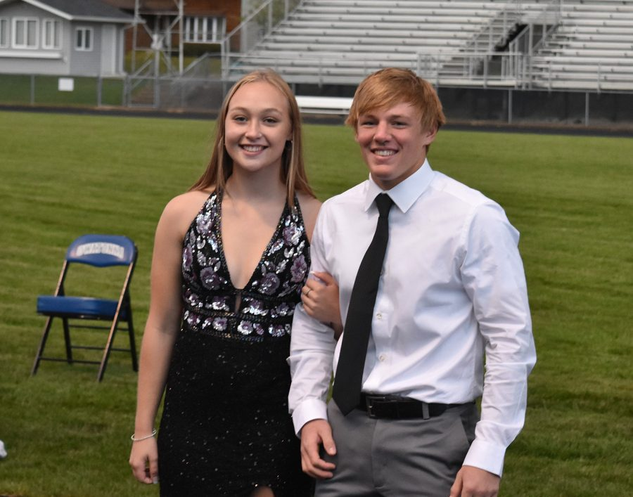 Sydney Hunst and Matthew Seykora pose for a picture during coronation