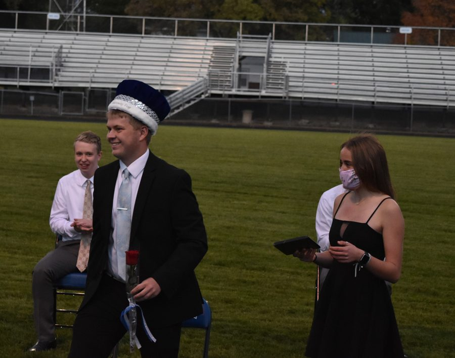 Ashton Jensen after being named homecoming king