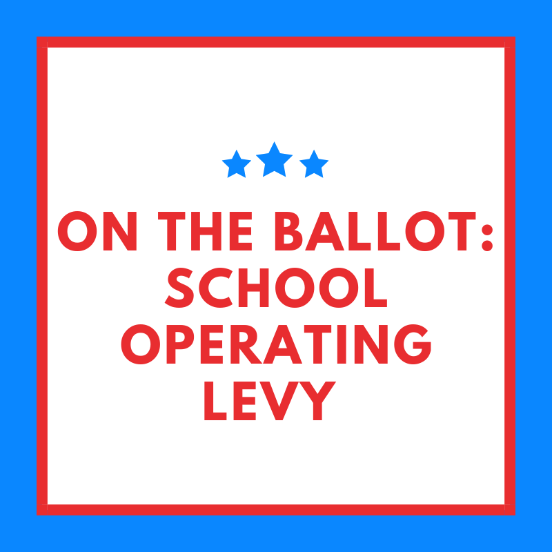 The voters will be asked to reinvest and renew the school operating levy on Nov.3