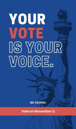 If over 18, commit to civic engagement and let your vote be your voice on Nov. 3