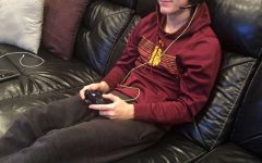 Connor Whalen playing video games online, with his friends has become a common past time during COVID-19