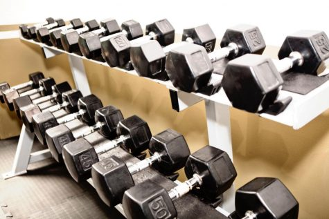 Weight room, awaiting the return of winter sports