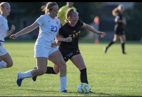 Emma Dahnert lining up to make her move