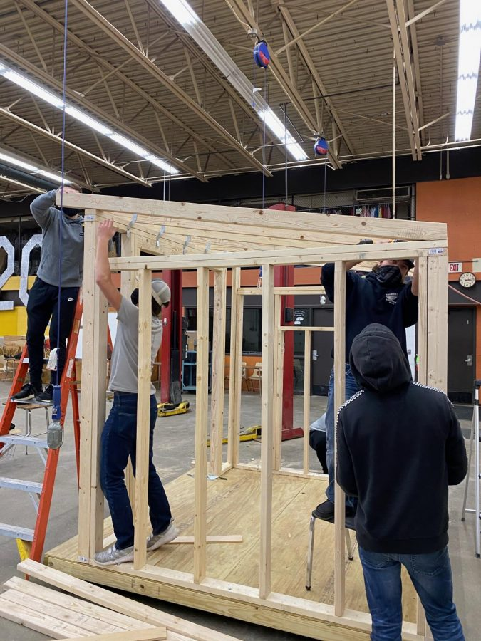 Construction Tech students work on their projects
