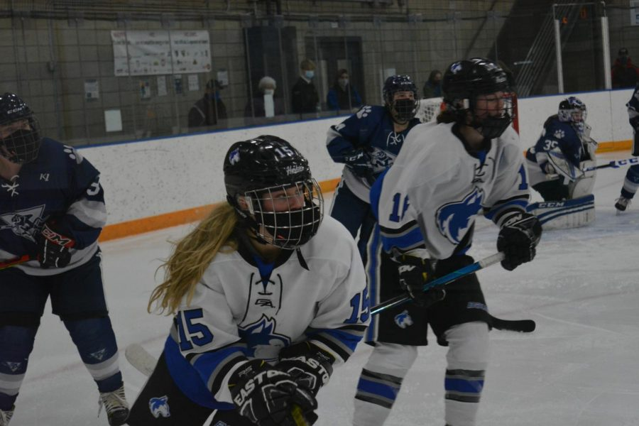 Olivia Herzog looking down the rink