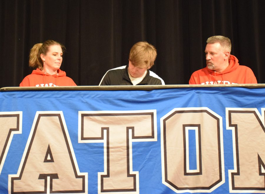 Zach Stranksy signs to play Division III football at the University of Wisconsin, River Falls