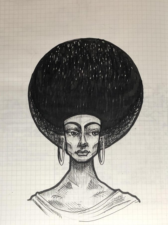 Wikens drawing inspired by Black History Month.