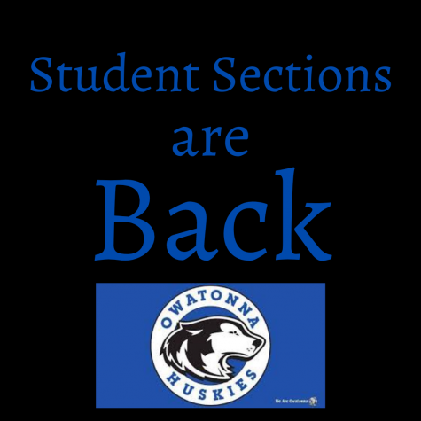 Student sections have returned to Hockey and Basketball games
