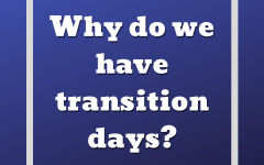 Two transition days are required by the Minnesota Department of Health when switching learning models