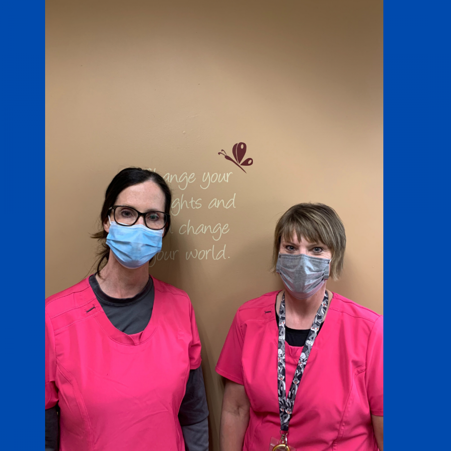 OHS nurses working hard dealing with COVID-19