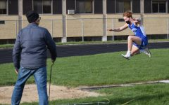 Jacob Reinardy doing the long jump