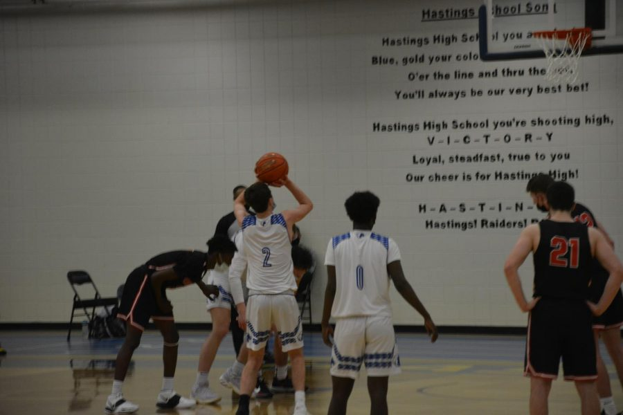 Brayden Williams on his second free throw to tie the game