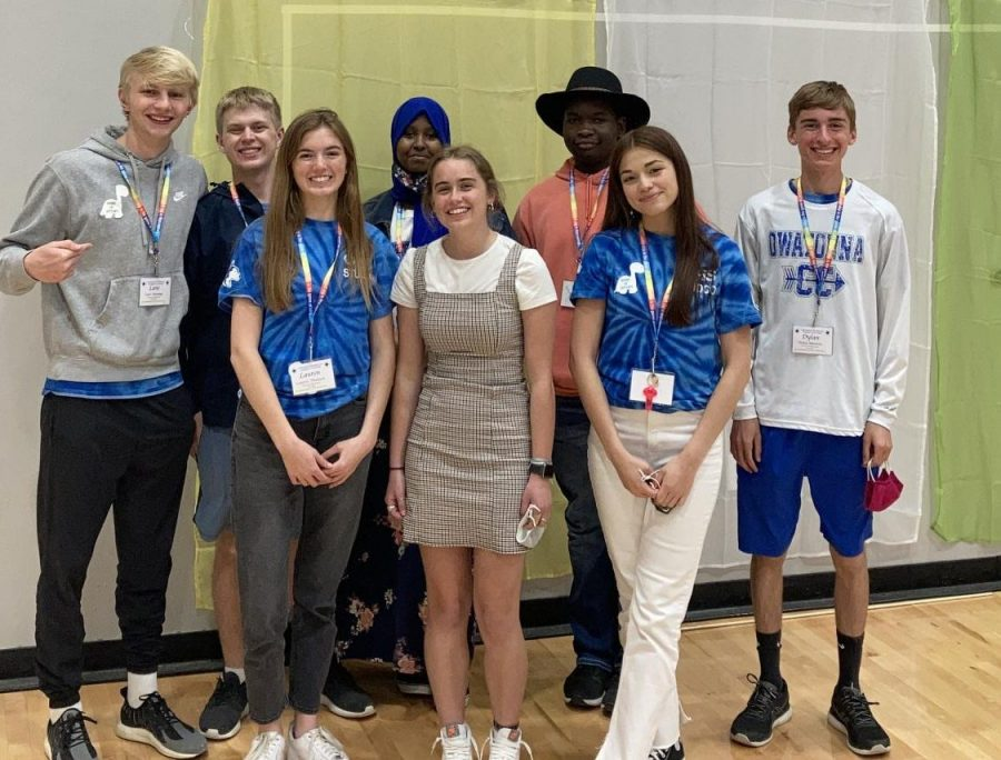 Reegan Lindholm, along with seven others from Owatonna High School's Student Council at the State Leadership Convention.