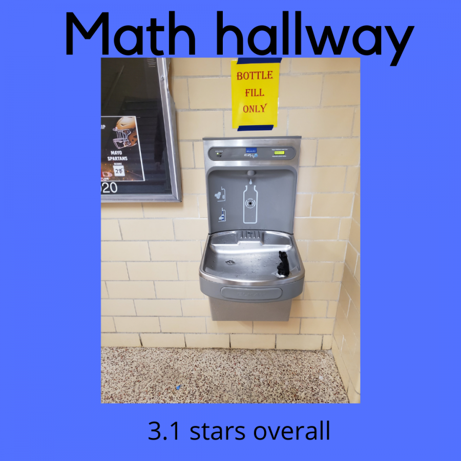 The math hallway water fountain