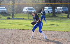 Elizabeth (Izzy) Radel playing second base against Red Wing