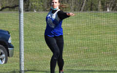 Jenna Gleason makes on her three attempts in discus
