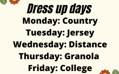 Dress up days for Homecoming Part II are listed above