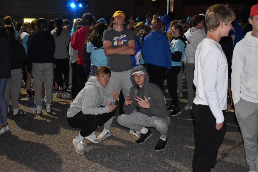 Senior boys posing at the last chance dance