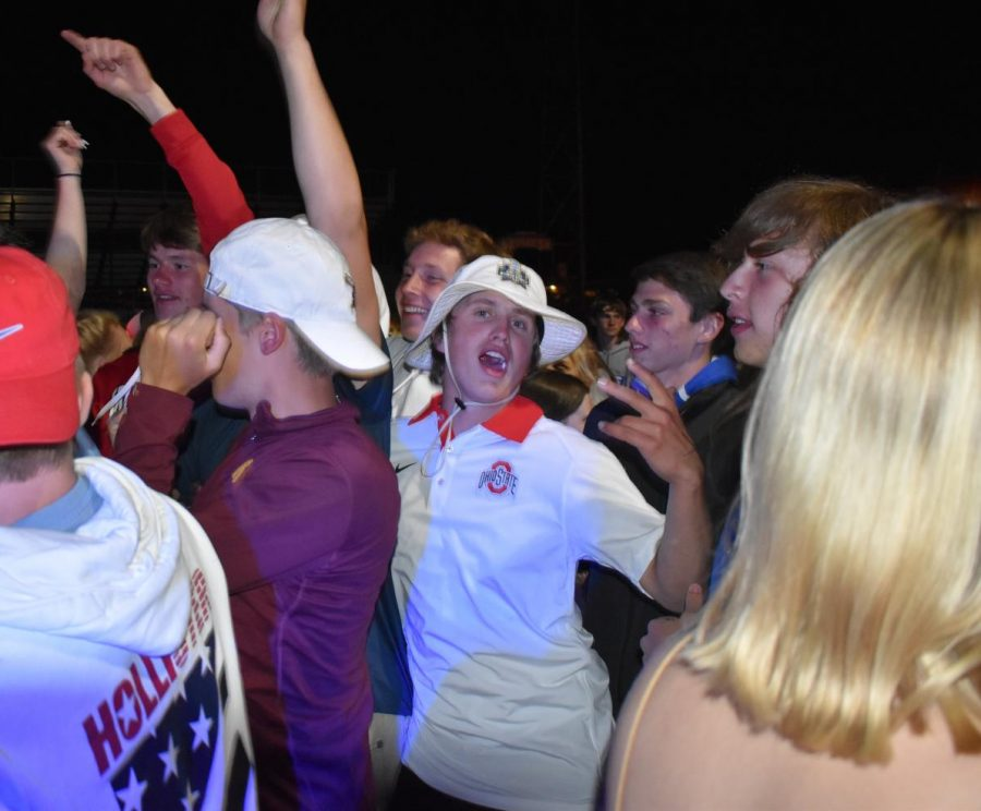 Ayden Walter enjoying himself in the middle of the mosh pit