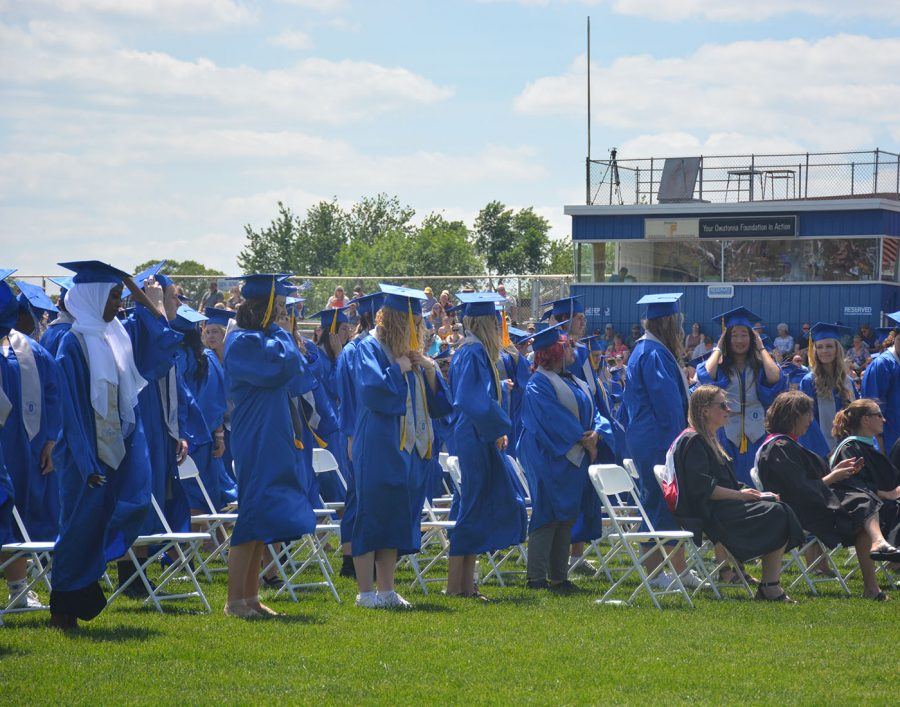 Many seniors waiting for their names to get called