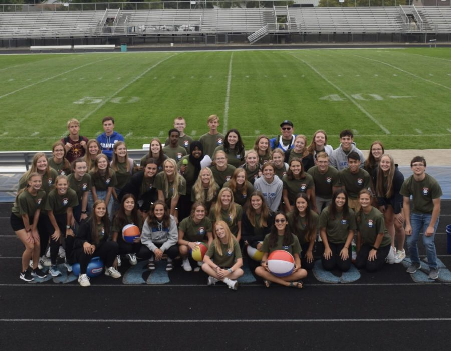 2021-2022 OHS Student Council prepares the first pep fest in over a year.