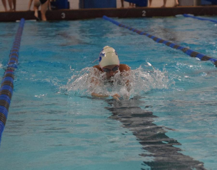 Owatonna swimmer flying down the lane