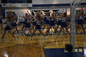 OHS Cheer perform at the Homecoming Pepfest on Oct. 1