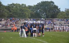 Huskies gameplan during a timeout.