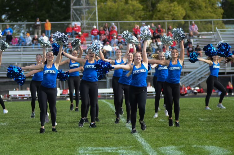 Dance team during performance.