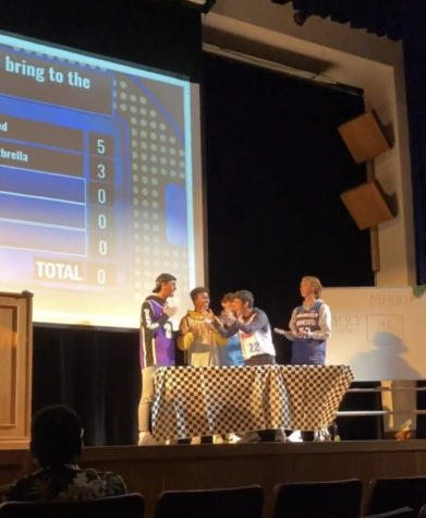 The winning team competes in the Family Feud event held on Thursday, Oct. 7