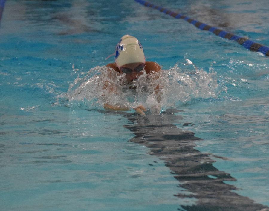 Logan Norrid swimming breaststroke